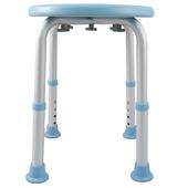 《舞動創意》輕量化鋁質可昇降浴室防滑洗澡椅-圓板凳(天空藍)