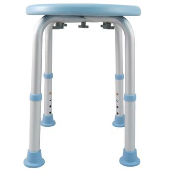 ★結帳現折★舞動創意 輕量化鋁質可昇降浴室防滑洗澡椅-圓板凳(天空藍)