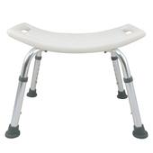 《舞動創意》輕量化鋁質可昇降浴室防滑洗澡椅(無背式)