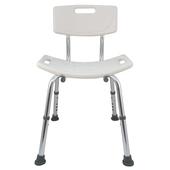 《舞動創意》輕量化鋁質可昇降浴室防滑洗澡椅(靠背式)