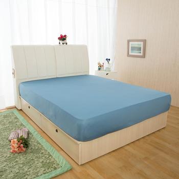 HomeBeauty 超長效激涼涼感床包-單人(涼感藍)
