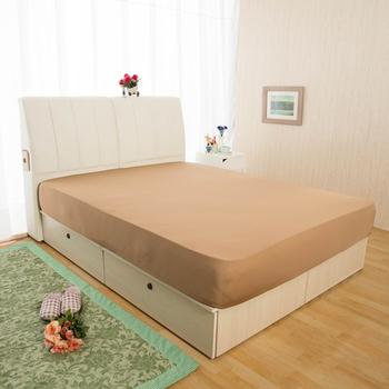 HomeBeauty 超長效激涼涼感床包-特大(涼感咖)