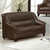 《AGNES 艾格妮絲》莉秀透氣乳膠皮沙發雙人座(三色可選)(咖啡)