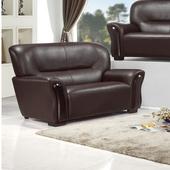 《AGNES 艾格妮絲》慕蓉乳膠厚皮沙發雙人座(三色可選)(黑色)