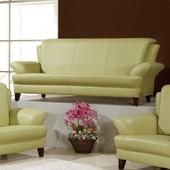 《AGNES 艾格妮絲》荷娜乳膠厚皮沙發組三人座(三色可選)(綠色)