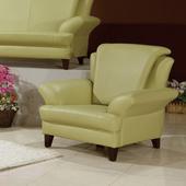 《AGNES 艾格妮絲》荷娜乳膠厚皮沙發組單人座(三色可選)(綠色)