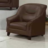 《AGNES 艾格妮絲》莉秀透氣乳膠皮沙發單人座(三色可選)(咖啡)