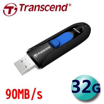 創見 Transcend JetFlash790 32G 下推式 USB3.0 隨身碟 (JF790)(黑色)