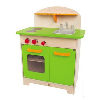 德國Hape愛傑卡 大型廚具台(綠)