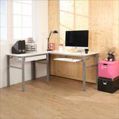 《BuyJM》低甲醛鏡面160+80公分L型穩重型一抽一鍵工作桌(白色)