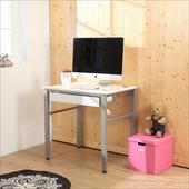 《BuyJM》低甲醛鏡面80公分穩重型單抽屜工作桌(白色)