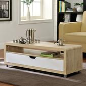 《佳嘉家》DIY蘇爾茶几/大抽屜收納茶几桌/電視櫃(淺橡色+白色)