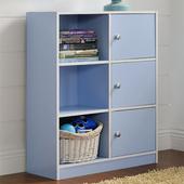 《佳嘉家》DIY弗雷六格三門櫃/書櫃/置物櫃/收納櫃(藍色)