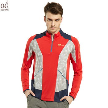 DEODAR 男款長袖吸濕排汗立領衫-紅色(L)