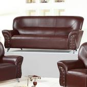 《AGNES 艾格妮絲》幸福乳膠皮沙發三人座(三色可選)(咖啡)