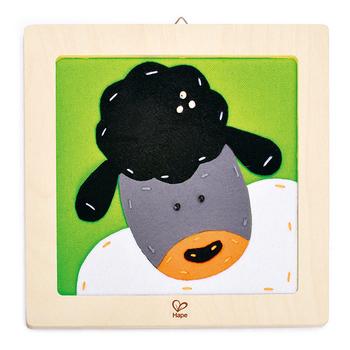 德國Hape愛傑卡 木製工藝系列綿羊刺繡