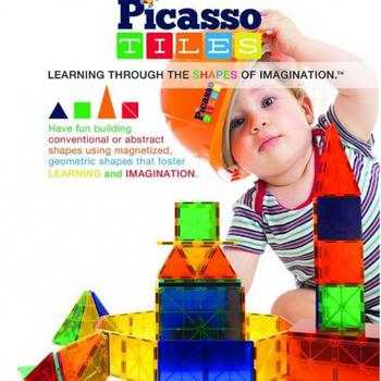 Picasso Tiles Picasso Tiles 畢卡索益智智慧磁性積木拼圖(PT60)