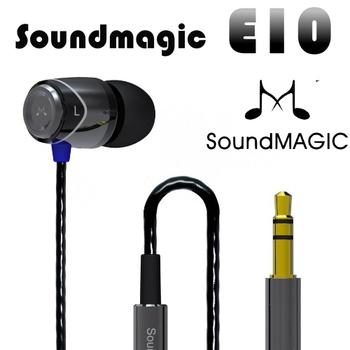 Soundmagic 聲美耳機 聲美耳機SOUNDMAGIC 英國五星最高CP值評價 入耳式耳機 E10(E10黑色)