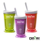 《OMORY》涼夏神奇酷涼奶昔冰沙杯(附匙)-3色(二入組)(紫色X2)