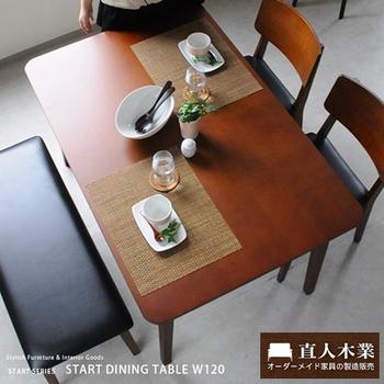 日本直人木業 START生活美學餐桌椅(一桌2椅1長凳)