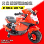 《TECHONE》MOTO3 仿真跑車重型機車設計可充電版 兒童電動摩托車/童車/機車(帥氣破錶首選)(紅)