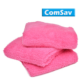 《ComSav》超輕盈柔軟舒適雙面長毛毛巾 3入 - 桃紅色