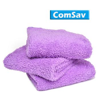 ComSav 超輕盈柔軟舒適雙面長毛毛巾 3入 - 紫色