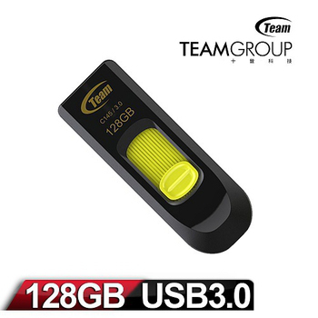 Team 十銓科技 C145 128GB USB3.0 跑車碟(黃)