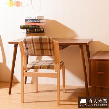 日本直人木業 STYLE曲木椅+胡桃木色書桌組