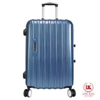 LONG KING 28吋PC鏡面硬殼鋁框行李箱(LK-8007)(藍色)