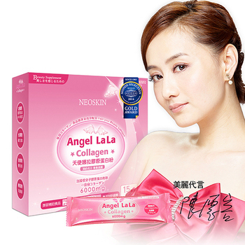 Angel LaLa天使娜拉 陳德容代言膠原蛋白粉 隨身包(15包*1盒/組)
