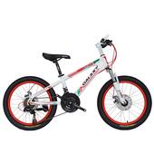 《BIKEDNA》MT218 20吋21速 兒童避震登山車(白紅)
