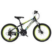 《BIKEDNA》MT218 20吋21速 兒童避震登山車(黑綠)