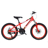 《BIKEDNA》MT218 20吋21速 兒童避震登山車(紅色)