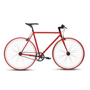 《BIKEONE》V4 26吋單速車 英式時尚經典款-平把(紅)