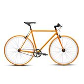 《BIKEONE》V4 26吋單速車 英式時尚經典款-平把(橘)
