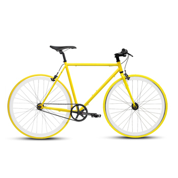 《BIKEONE》V4 26吋單速車 英式時尚經典款-平把(黃)