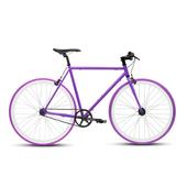 《BIKEONE》V4 26吋單速車 英式時尚經典款-平把(紫)