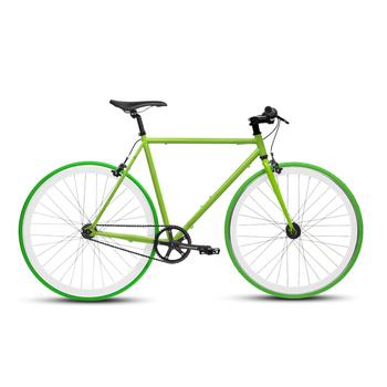 《BIKEONE》V4 26吋單速車 英式時尚經典款-平把(綠)