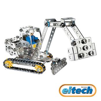 德國eitech 益智鋼鐵玩具-3合1挖土機(C11)