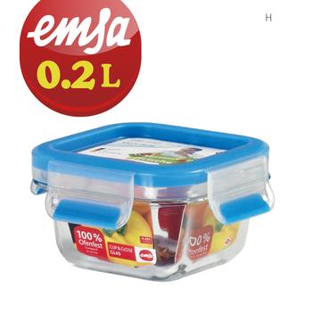 德國EMSA 專利上蓋無縫頂級金剛玻璃保鮮盒德國原裝進口-保固30年(0.2L)