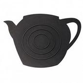 《島民》矽膠隔熱鍋墊-茶壺影子(黑)(1個/袋)