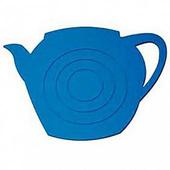 《島民》矽膠隔熱鍋墊-茶壺影子(藍)(1個/袋)