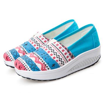 Alice韓系館 【預購】視覺個性羅馬風格健走鞋(藍36)