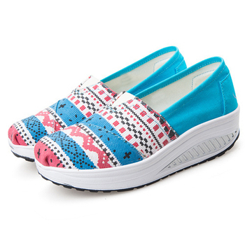 Alice韓系館 【預購】視覺個性羅馬風格健走鞋(藍39)
