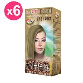 《柔蝶》自然色彩染髮霜-琥珀棕綠(6入/組)