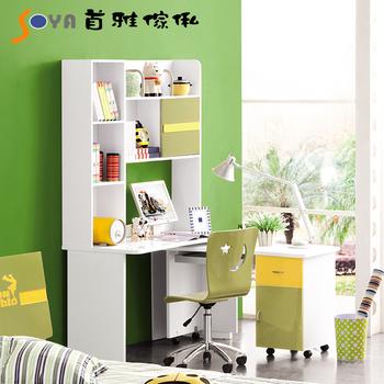 SOYA #882活力陽光 L型書桌(綠/白色)