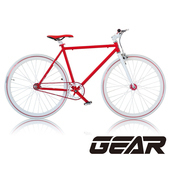 《GEAR》Fixed Gear單速車_GF1.0(紅白色)