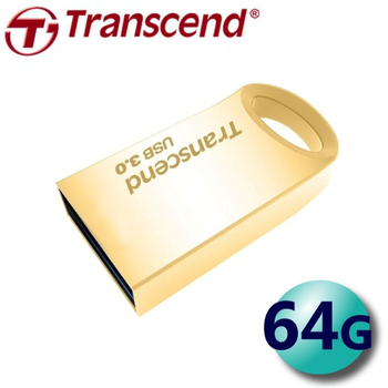 創見 Transcend JetFlash710 64G USB3.0 金屬迷你 隨身碟 (JF710)(金色)