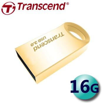 創見 Transcend JetFlash710 16G USB3.0 金屬迷你 隨身碟 (JF710)(金色)